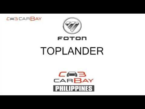 Foton Toplander first debut in Philippines | www.carbay.ph