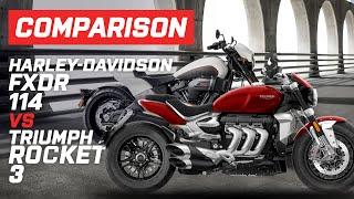 Triumph Vs Harley-Davidson | Triumph Rocket 3 Vs Harley-Davidson FXDR 114 | Visordown.com