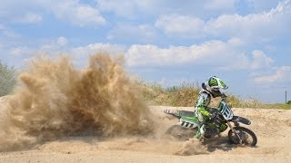 preview picture of video 'Extremely sandy motocross track'