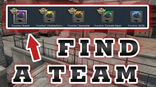 How to Find a CSGO Team [CSGO Team Find] 2017