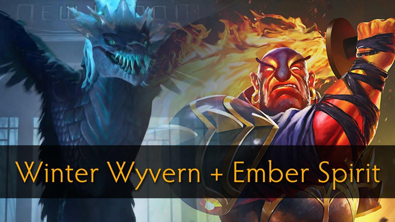 Dota 2: Xem tướng mới Winter Wyvern combo cùng Ember Spirit