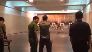 Công An Tập bắn súng lục