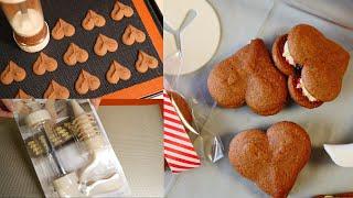 ダイソーベーキングガンで大量チョコクリームサンドクッキー 速攻ラムレーズンレシピつき   Chocolatecream Sandwich Cookies with a Daiso Baking Gun