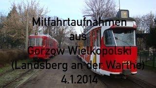 preview picture of video 'Mitfahrtaufnahmen aus Gorzów Wielkopolski (Landsberg an der Warthe) vom 4.1.2014'