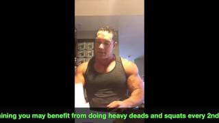 Greg Doucette IFBB PRO Body Part Training Frequency 1-2-3 times per week?