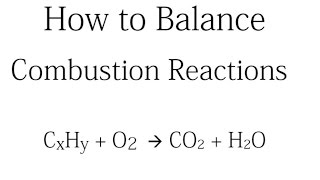 How To Balance Combustion Reactions