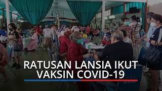 Ratusan Lansia Antusiasi Ikut Vaksin Covid-19 di Gedung HTT, 800 Lansia Terdaftar