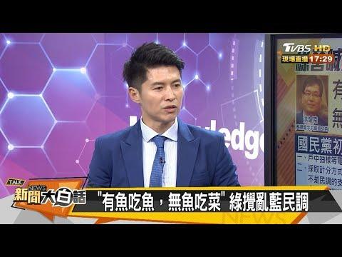 """""""有魚吃魚,無魚吃菜""""綠攪亂藍民調 新聞大白話 20190705"""