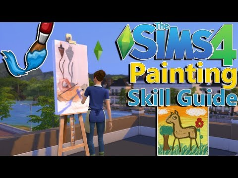 Sims 4 Painting Skill Guide & Painter Extraordinaire