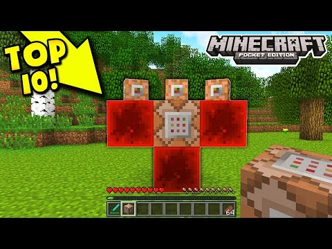 TOP 10 Command Block Creations! - Minecraft PE (Pocket
