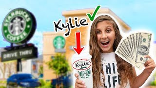 Giving Starbucks Employees $1,000 If They Spell My Name Right! Mimi Locks challenge