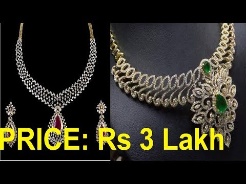 Top 5 Diamond Necklace  with Price || Beautiful Diamond Necklace Tanishq Red Carpet Collection