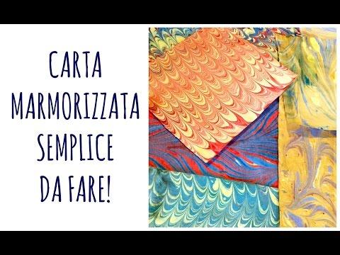 Come fare in modo semplice la CARTA MARMORIZZATA / Simple EBRU PAPER (Arte per Te)