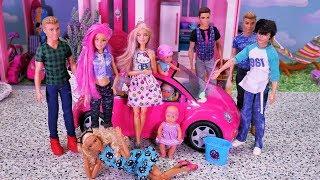 Rodzinka Barbie #14 * BARBIE MA RÓŻOWE WŁOSY??? KEN W TARAPATACH * Bajka po polsku z lalkami