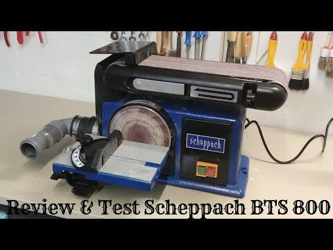 Test & Review Scheppach BTS 800 Band- und Tellerschleifer