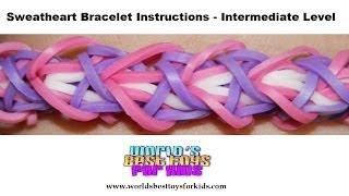 Rainbow Loom Rubber Band Refill - Sweatheart Bracelet Instructions
