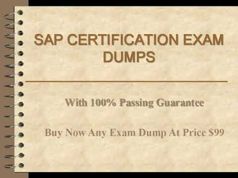 SAP CERTIFICATION EXAM DUMP WITH PASSING GUARANTEE ...