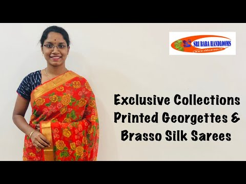 "<p style=""color: red"">Video : </p>Exclusive Brasso Silks &amp; Printed Georgettes 2020-09-19"