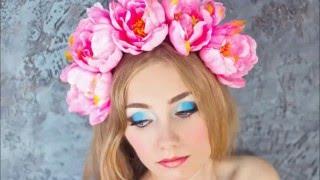 моя работа/ободки из цветов и прически делала я/ my work / rims of colors and hairstyles made I