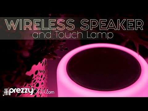 Wireless Speaker With Colour Changing Touch Lamp