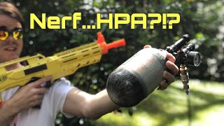 Nerf Mod: Vanguard Nerf gun with a HPA Tank! The Highest FPS Nerf Gun?