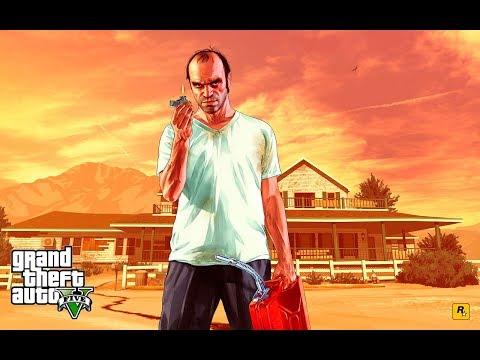 Grand Theft Auto V. Игра в теннис. Настоящая битва! Tennis game. A real battle!