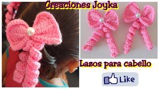 Lazos A Crochet Para El Cabello