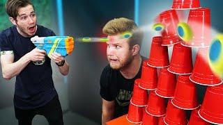 NERF Solo Cup Trickshot Challenge!