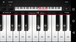 """Mere Rashke Qamar Arijit Singh """"Raees"""" Easy Piano"""