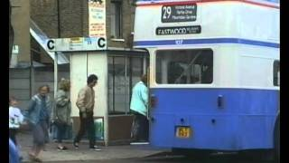 preview picture of video 'Routemaster & Other Buses in Southend-On-Sea, Essex.'