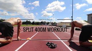 Grueling Speed + Split 400m Workout
