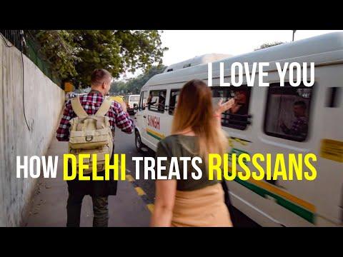 How Delhi treats Russians   Chandni Chowk   Palika   Connaught Place   India   Travel Vlog (видео)