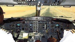 Air Zimbabwe 737 2N0Adv Cockpit   Approach & Landing Rwy 13 At Bulawayo Joshua Mqabuko Nkomo (BUQ)