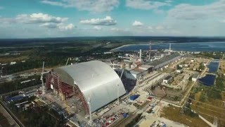 Building the biggest ark in the world to cover exploded reactor of Chernobyl nuclear plant 2015
