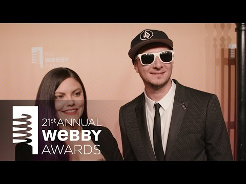Rob Czar and Corinne Leigh on the Red Carpet at the 21st Annual Webby Awards