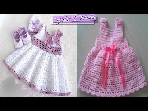 6d487b9a8 Vestidito para niñas y bebes tejidos en crochet , los mas hermosos diseños.  NUEVO TUTORIAL PASO A PASO COMPLETO VESTIDO BEBE AQUI  https://www.youtube.com/.