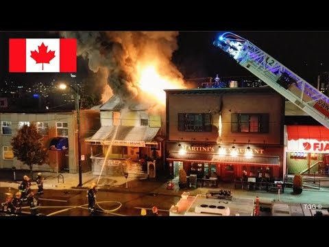Huge House Fire & Partial Collapse In Vancouver [Responses + On scene]