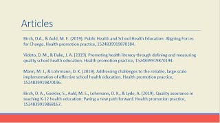 Public Health And School Health Education: Aligning Forces For Change