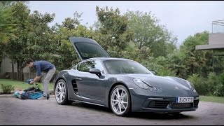 How much can you fit in a 718 Cayman?