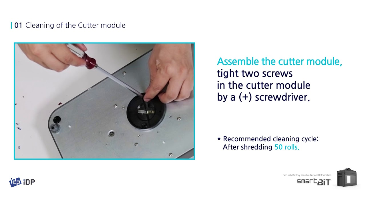 IDP SMART-BIT Ribbon Shredder - Maintenance Video