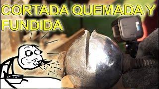 CORTANDO BOLA - ESFERA DE PAPEL ALUMINIO PERFECTA Y FUNDIENDOLA |NQUEH