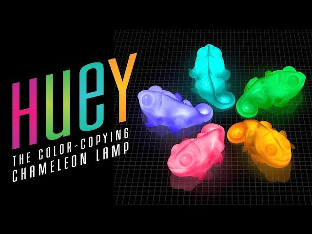 Huey the Color Copying Chameleon Lamp