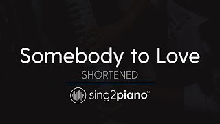 Somebody To Love (Piano Karaoke Instrumental) Queen