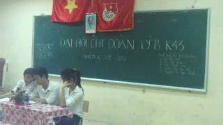 preview picture of video 'Lop Vat Ly K43B - DHSP Thai Nguyen - Dai hoi chi Doan.Part1'