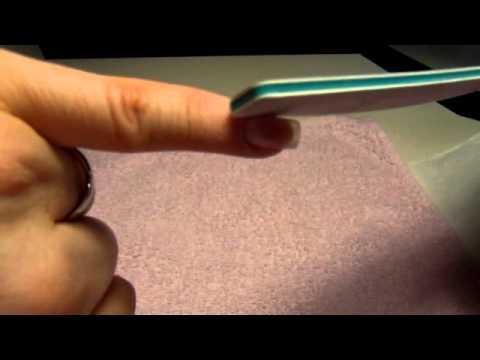 1 targa da un fungo di unghie