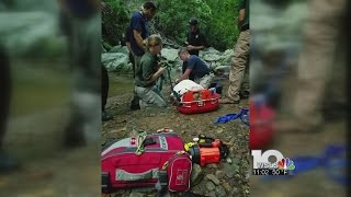 Woman who fell off waterfall tells tale of survival