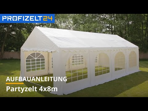 Partyzelt, Festzelt (PVC) Aufbau - 4m Breite | Profizelt24