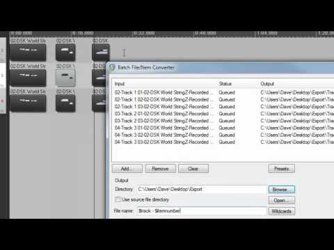 Batch Converter Item Export: 5 Minutes in Reaper