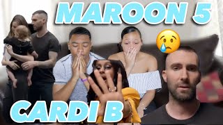 MAROON 5  GIRLS LIKE YOU FT. CARDI B MUSIC VIDEO REACTION