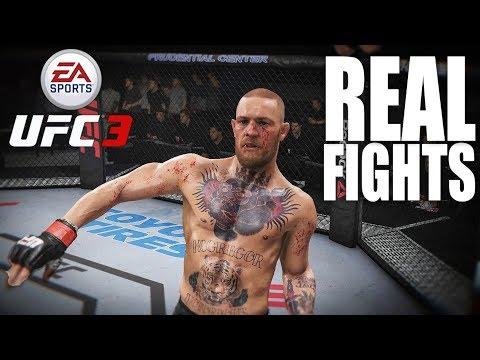 McGREGOR VS DIAZ | DOS SANTOS VS CORMIER | UFC 3 REAL FIGHTS #1